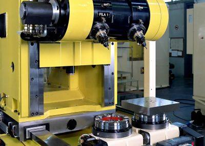 Special module for brake caliper bodies processing line
